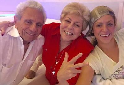 Shakira und ihre Eltern, September 2016