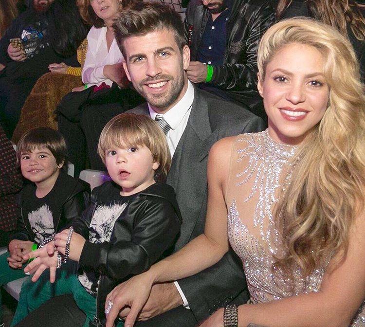 Shakira, Gerard, Milan und Sasha